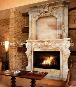 Marble Sculpture Stone Fireplace Surround Fireplace Mantel pictures & photos