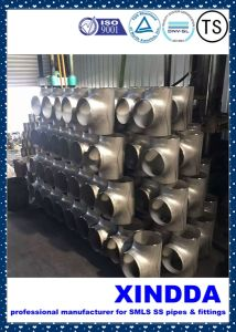 Bw Smls Ss ASTM 815 Duplex S31803/Stainless Steel Pipe Fittings Tee ANSI B16.9 pictures & photos