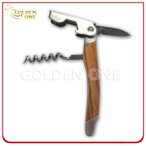 High Quality Wood & Stainless Steel Double Hinged Wine Corkscrew pictures & photos