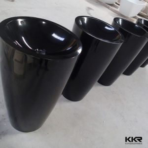 Bathroom Sanitary Ware Solid Surface Black Freestanding Basin pictures & photos