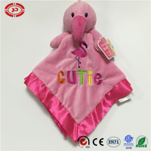 Pink Flamingo and Green Gator Animal Head Baby Blanket pictures & photos