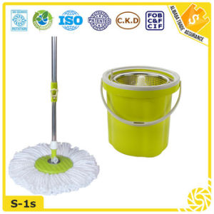 New Style Hand Press Round Bucket 360 Degree Spin Mop pictures & photos