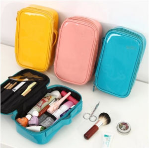 Leather Makeup Travel Toiletry Promotional Fashion PVC Cosmetic Bags pictures & photos