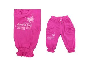 Pure Color Pants with Printed for Girl (SPG008) pictures & photos