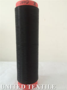 100% Polyester Yarn (with 75D/36F SD Black NIM) for Weaving pictures & photos