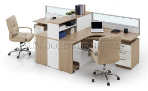 Modern Kd Office 4-Person Workstation with Overhead Filing Cabinet (SZ-WS617) pictures & photos