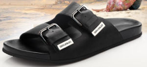 Wholesale Fashion Man Leather Slipper (WH0188)