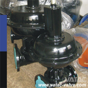 Straight Through Pneumatic Actuated&Handwheel BS/ANSI Flanged FF Diaphragm Valve pictures & photos