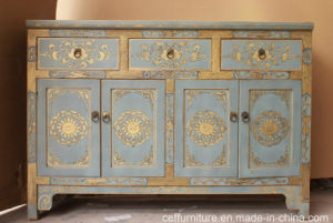 Home Hotel Villa Hand Painted Antique Wood Furniture Cabinet