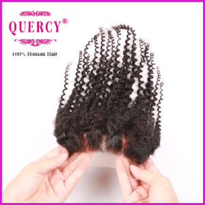 100 Human Hair Silk Base Closure Wholesale Mink Afro Kinky Curly Lace Closure pictures & photos