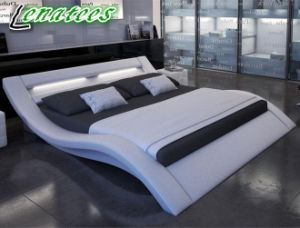 A516 Romantic Furniture Design King Size LED Bed pictures & photos