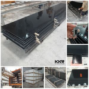 Pure Black 12.5mm Staron Solid Surface pictures & photos