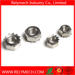 Stainless Steel Hex Kep Nut K-Lock Nut K Nut with External Tooth M4-M10 pictures & photos