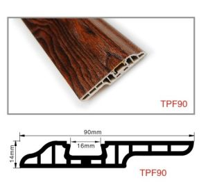 Ck Solid Wood Plastic PVC Wall Skirting Board Nail-Hidden pictures & photos