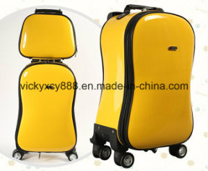 Wheeled Trolley Guitar Cucurbit Gourd Shape Boarding Case Bag (CY5924) pictures & photos