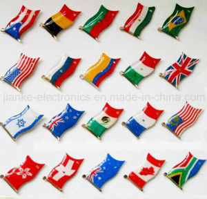 LED Flashing Country Flag Pin with Logo Print (3161) pictures & photos
