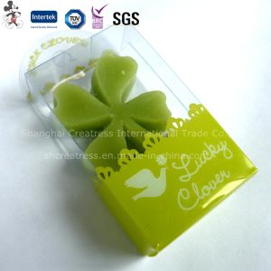 Salable Four Leaf Clover Art Candle in Domestic pictures & photos