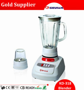 Gungdong 1400ml Glass Jar Electric Food Blender Kd318 pictures & photos