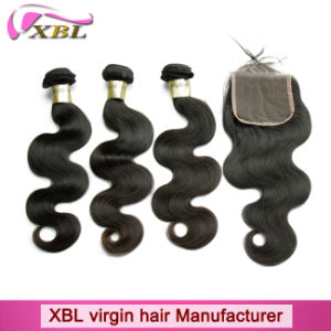 Human Hair Extension Grade 8A Brazilian Virgin Hair with Lace Closure pictures & photos