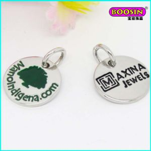 Manufacturer Custom Cheap Mini Silver Metal Jewellery Logo Charm pictures & photos