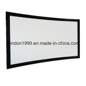 Front Projection Screens with Fixed Curved Frame pictures & photos