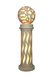 Sandstone Ball Sculpture LED Light Resin Lantern pictures & photos