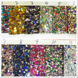 Gl-299 Decorative Shiny Glitter Wallpaper Fabric pictures & photos
