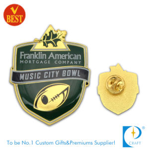 City Bowl Pin Badge with Gold Plating From China pictures & photos