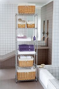 Fashionable Adjustable Square Metal Wire Livingroom Corner Shelf Rack (CJ6060180A6C) pictures & photos