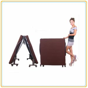 Portable Folded Bed with Mattress 190*65cm Violet Color pictures & photos