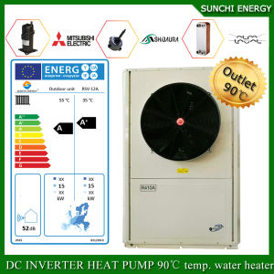 Working at -25c Cold Winter Weather House Heating 12kw/19kw/35kw Air Source Evi Heat Pump Split R410A pictures & photos