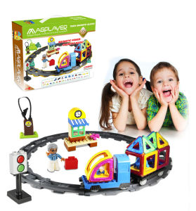 DIY Intelligence Educational Kids Magnetic Toys Train Set 75 PCS pictures & photos