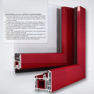 UPVC Window Profile with Different Sections Plastic Window Profile pictures & photos