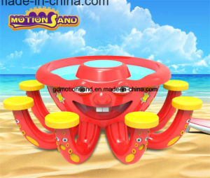 Octopus Amusement Park Equipment-Kinetic Motion Sand Display Table Kids Playing Center