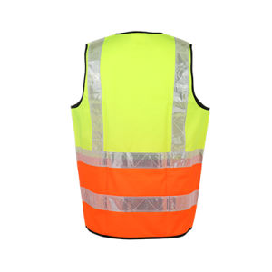 High Visibility Workwear Reflective Safety Vest with Black Pocket pictures & photos