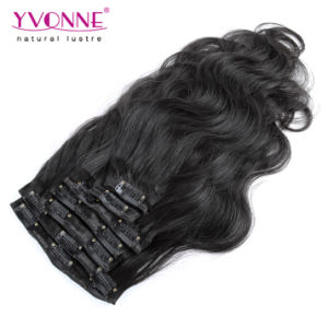 Brazilian Body Wave Clip in Human Hair Extension pictures & photos