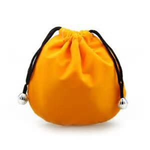 Custom Orange Velvet Drawstring Pouch for Jewelry (CVB-1131) pictures & photos