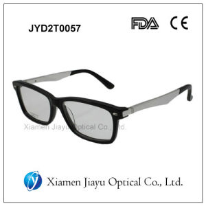 Fashion Metal Temples Sunglass Acetate Optical Frame