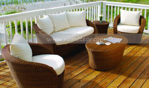 Mtc-168 PE Rattan Sofa Furniture Round Table Patio Sofa pictures & photos