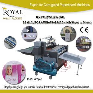 Ryfm-720b 920b Semi-Auto Laminating Machine (Sheet to sheet) pictures & photos