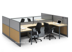 Modern 4 Seater Office Partition Cubicle Workstation (HF-BSP002) pictures & photos