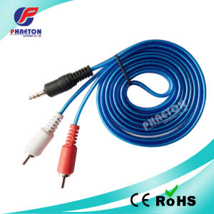 3.5mm Stereo to 2RCA Audio Video Cable pictures & photos