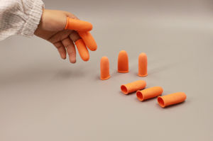 Orange Industrial Thick Anti-Static Finger Stall