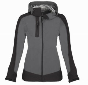Women Slim Contrast Colour Waterproof Softshell Jacket pictures & photos