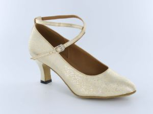 Women′s Cream Ballroom/Standard Dance Shoes pictures & photos