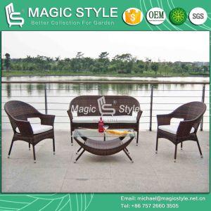 Simple Rattan Sofa Set Leisure Outdoor Sofa Set Garden Wicker Sofa Set (Magic Style) pictures & photos