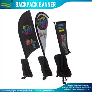 Full Color Printing Street Walking Banner Backpack Flag (NF04F06095) pictures & photos