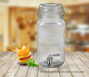 Free Sample Portable Beverage Cans Sealed Lid Beverage Bottle Glass Storage with Tap and Handle pictures & photos