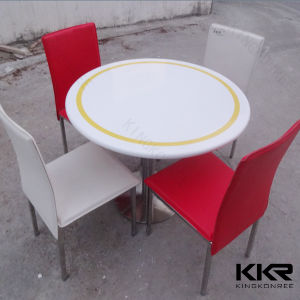 Modern Round Solid Surface Dining Room Table (T1705244) pictures & photos