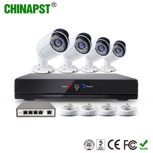 Hottest 720p Network Security Outdoor 4CH Bullet IP Camera Kit (PST-IPK04C) pictures & photos